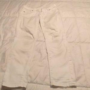 Loft modern skinny petite white jeans